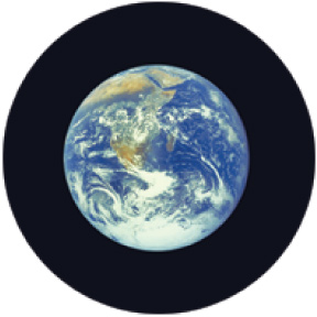 Earth Small Button