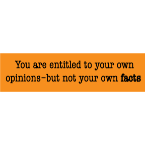 Entitled To Your Opinions Bumper Sticker