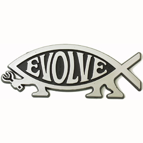 Evolve Darwin Fish Car Emblem