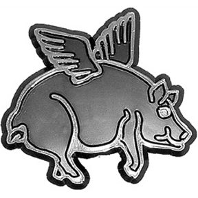 Flying Pig Car Emblem GONE