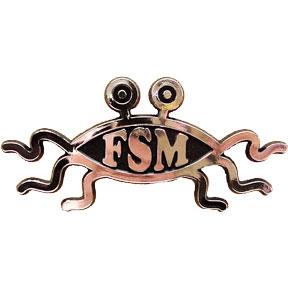 Flying Spaghetti Monster Car Emblem