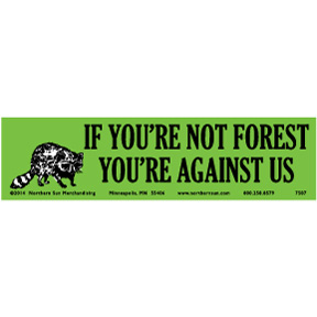 Forest Against Us Bumper Sticker