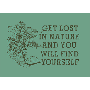 Get Lost In Nature 2x3 Magnet