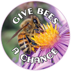Give Bees A Chance Button