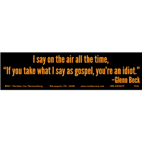 Glenn Beck Bumper Sticker