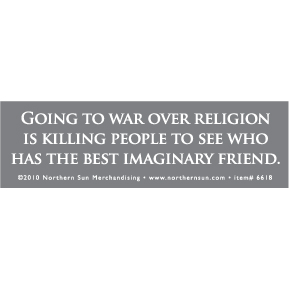 Going To War Over Religion Sticker
