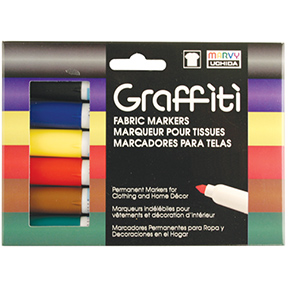 Graffiti Fabric Marker 6 Pack