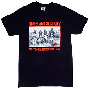homeland security native american t shirt