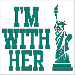 I'm With Her Statue Of Liberty Sticker