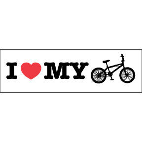 I Heart My Bike Sticker
