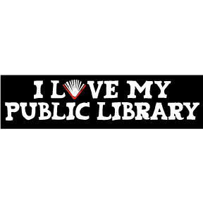 I Love My Public Library Bumper Sticker