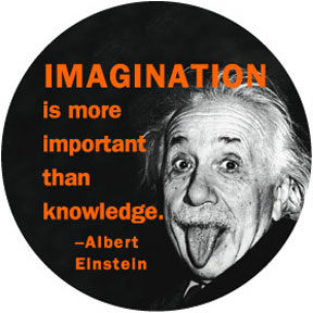 Imagination Albert Einstein Button