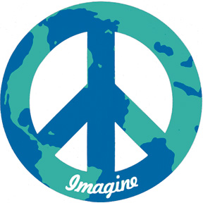"Imagine World Peace 4"" Magnet"