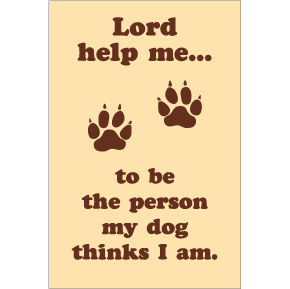 Lord Help Me Dog 2x3 Magnet