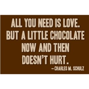 Love Chocolate Charles Schulz 2x3 Magnet