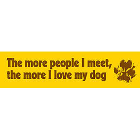Love My Dog Bumper Sticker