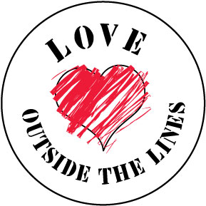 Love Outside The Lines Button
