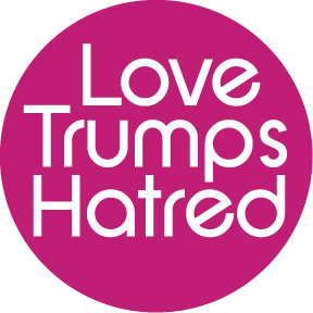 Love Trumps Hatred Button