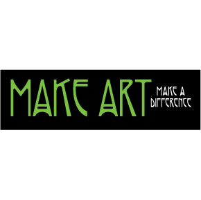 Make Art Make A Difference Sticker