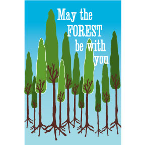 May The Forest Be With You 2x3 Magnet