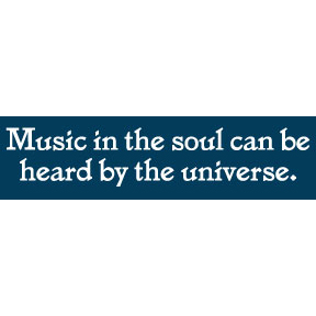 Music In The Soul Bumper Sticker