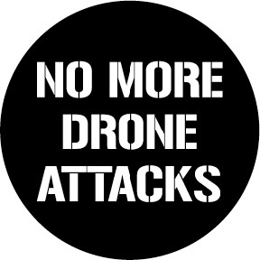 No More Drone Attacks Button