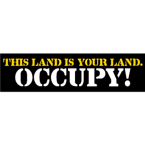 Occupy Bumper Sticker