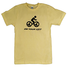 On Your Left Bike Organic TShirt