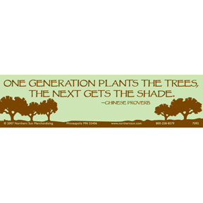 One Generation Plants Bumper Sticker