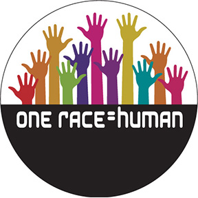 One Race Equals Human Button