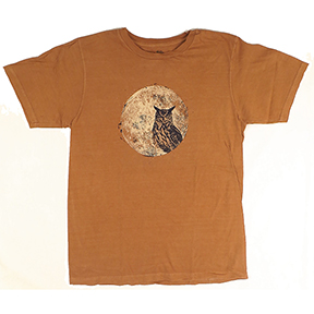 Owl And Moon Organic Clay-Dyed TShirt