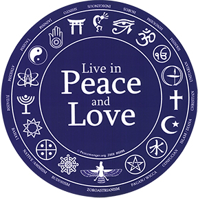 "Peace And Love 6"" Sticker"