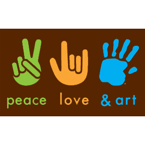 Peace Love Art 2x3 Magnet