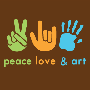 Peace Love Art Sticker