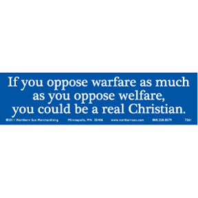 Real Christian Bumper Sticker