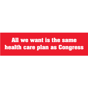 Same As Congress Bumper Sticker