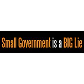 Small Government Bumper Sticker