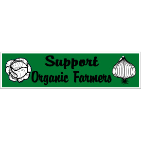 Support Organic Farmers Bumper Sticker