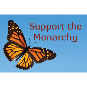 Support The Monarchy 2x3 Magnet