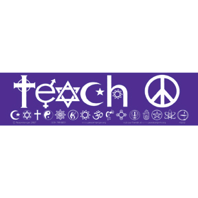 Teach Peace Bumper Sticker