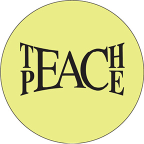 Teach Peace Button