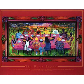 The First Supper Jane Evershed Poster