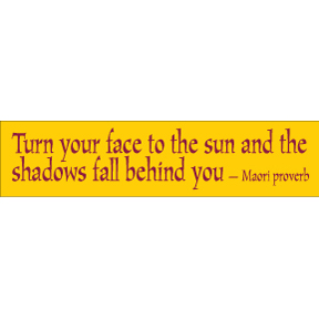 Turn You Face Maori Bumper Sticker