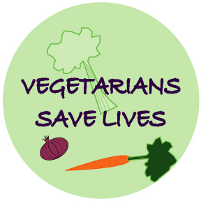 Vegetarians Save Lives Button
