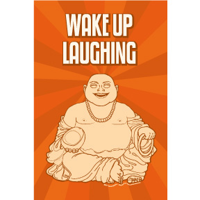Wake up laughing Buddha 2x3 Magnet