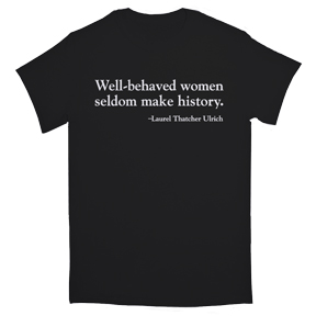 Well-Behaved Women Junior Organic Black T-Shirt