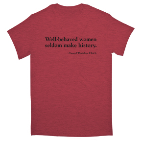 Well-Behaved Women Organic Red T-Shirt