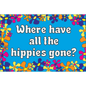 Where Hippies 2x3 Magnet