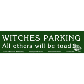 Witches Parking Bumper Sticker