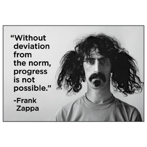 Without Deviation Frank Zappa 2x3 Magnet